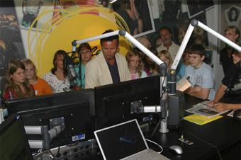 Besuch des Life-Radio Studios
